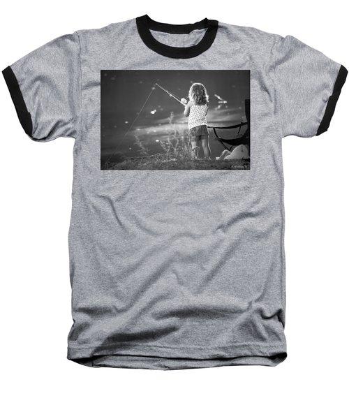 Little Fishing Girl Baseball T-Shirt