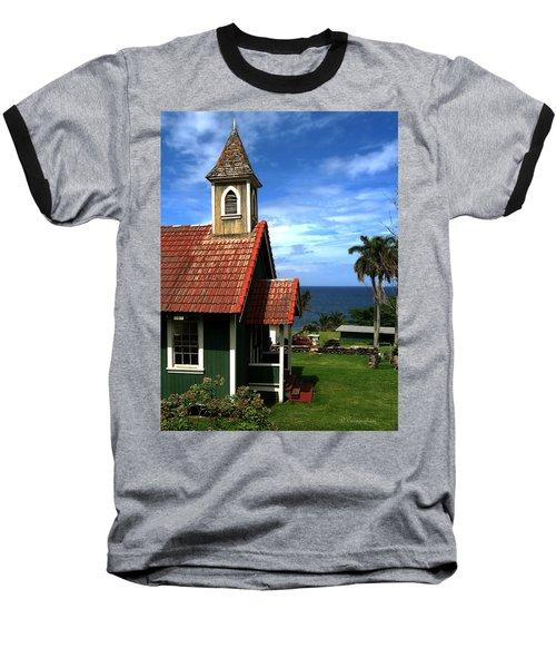Little Green Church In Hawaii Baseball T-Shirt