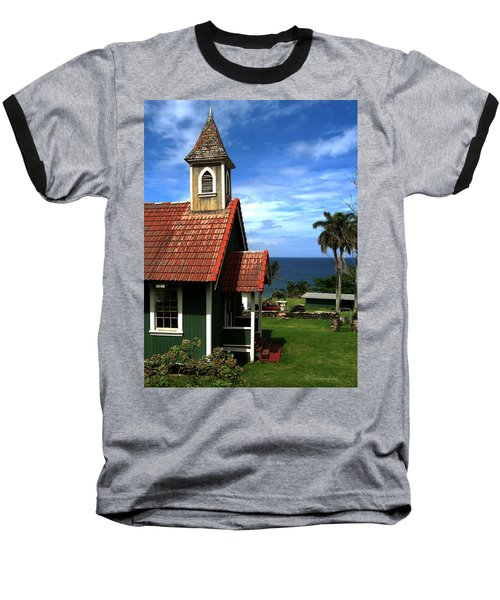 Little Green Church In Hawaii Baseball T-Shirt