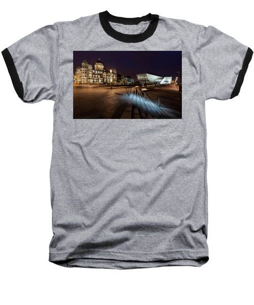 Liverpool - The Old And The New  Baseball T-Shirt by Beverly Cash