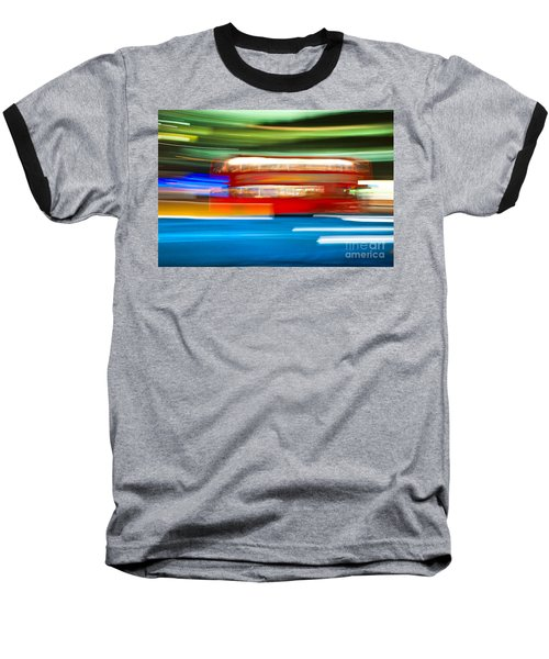 Baseball T-Shirt featuring the photograph London Bus Motion by Luciano Mortula