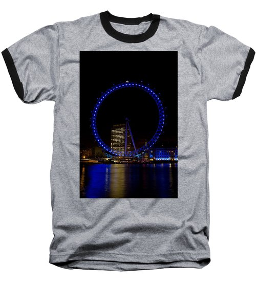 London Eye And River Thames View Baseball T-Shirt