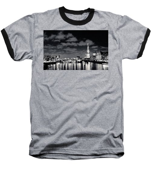 London Lights At Night Baseball T-Shirt