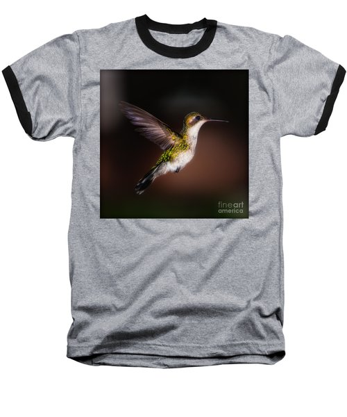 Lone Hummingbird Baseball T-Shirt