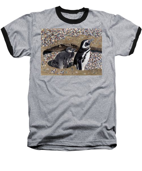 Looking Out For You - Penguins Baseball T-Shirt by Patricia Barmatz