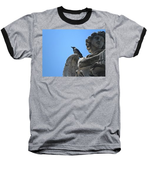 Baseball T-Shirt featuring the photograph Lookout by Laurel Best