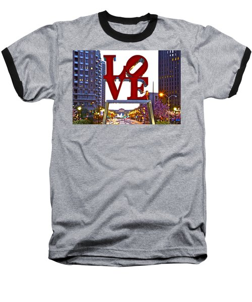 Baseball T-Shirt featuring the photograph Love In Philadelphia by Alice Gipson