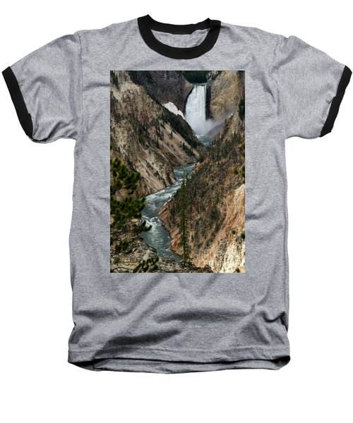 Lower Falls And Yellowstone River Baseball T-Shirt by Living Color Photography Lorraine Lynch