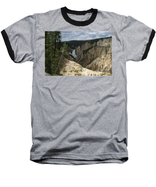 Lower Falls Of Yellowstone Baseball T-Shirt by Living Color Photography Lorraine Lynch