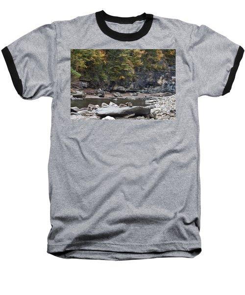 Loyalsock Creek In The Fall Baseball T-Shirt