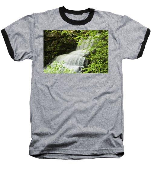 Loyalsock Waterfall Baseball T-Shirt