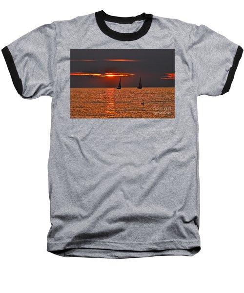 Red Maritime Dream Baseball T-Shirt
