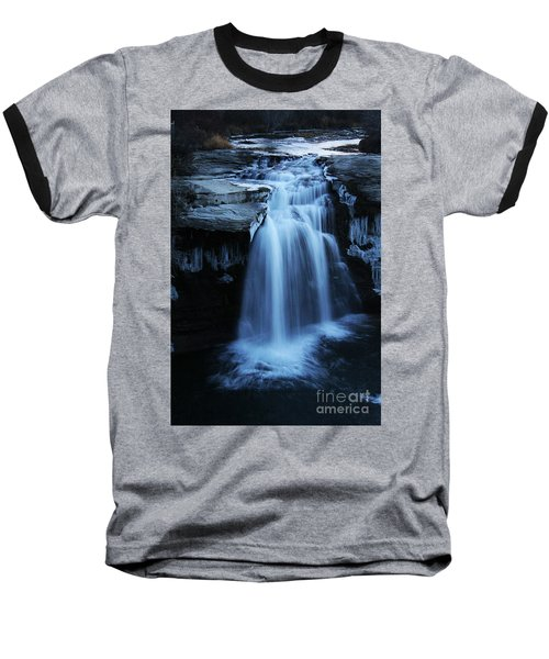 Baseball T-Shirt featuring the photograph Lundbreck Falls by Alyce Taylor