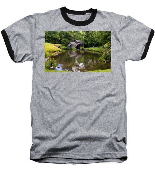 Mabry Mill And Pond Baseball T-Shirt