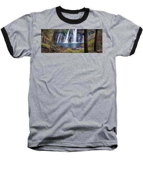 Macarthur-burney Falls Panorama Baseball T-Shirt