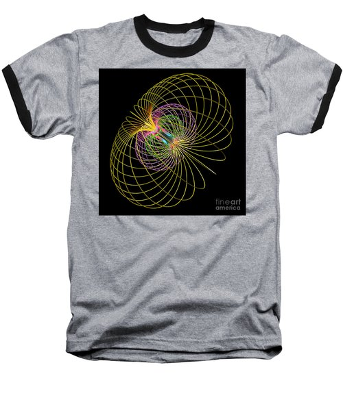 Magnetism 2 Baseball T-Shirt by Russell Kightley