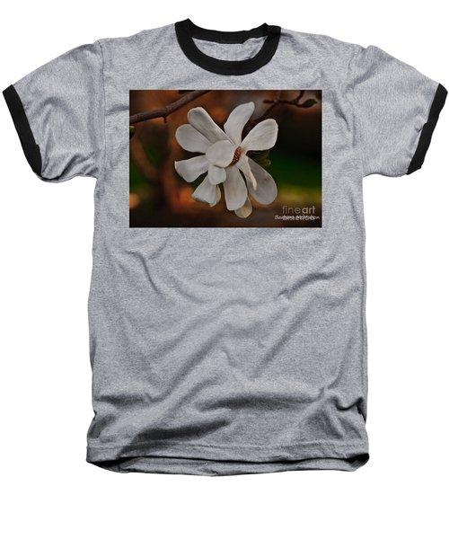 Baseball T-Shirt featuring the photograph Magnolia Bloom by Barbara McMahon