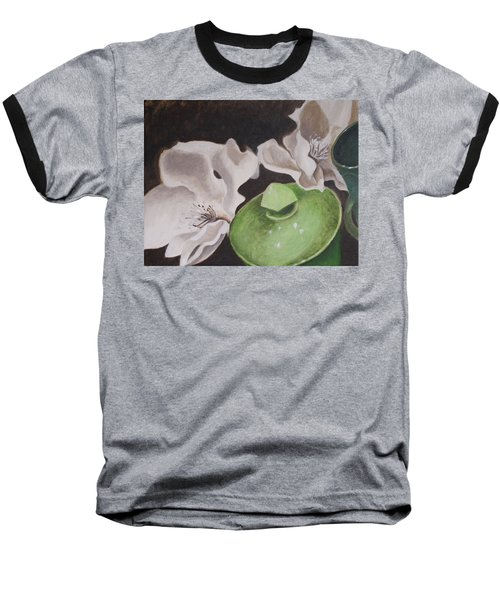 Magnolias With Green Sugar Bowl Baseball T-Shirt