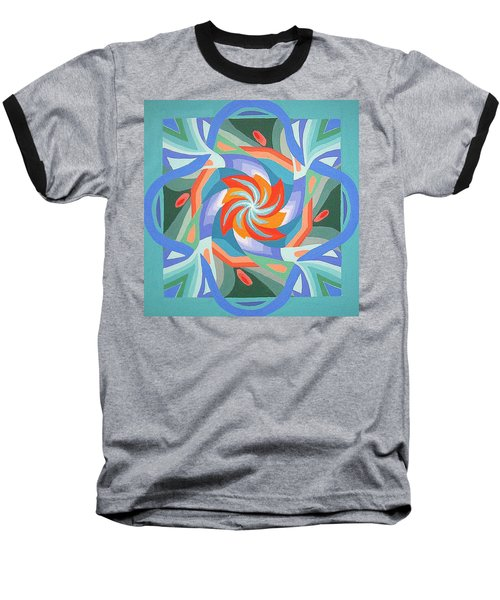 Mandala Baseball T-Shirt by Rachel Hames
