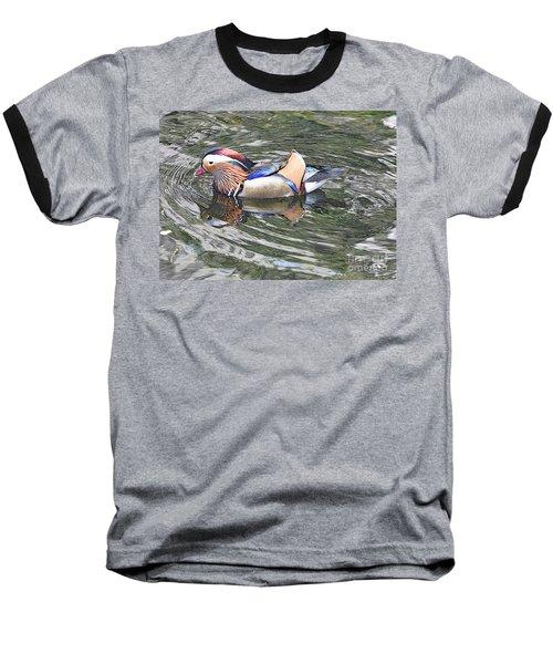 Baseball T-Shirt featuring the photograph Mandarin Duck  by Lydia Holly