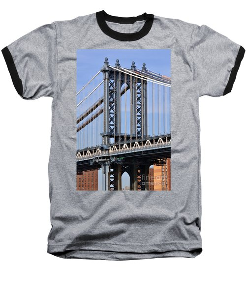 Manhattan Bridge3 Baseball T-Shirt by Zawhaus Photography