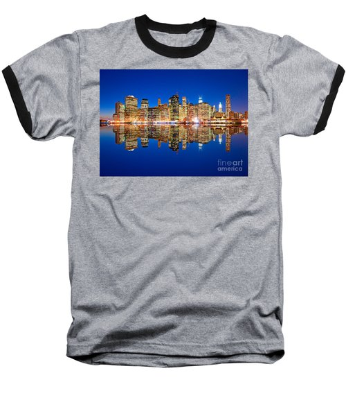 Baseball T-Shirt featuring the photograph Manhattan by Luciano Mortula
