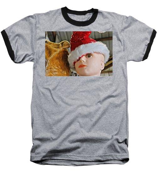 Baseball T-Shirt featuring the photograph Manniquin Santa 2 by Bill Owen