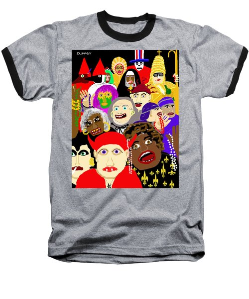 Mardi Gras New Orleans Baseball T-Shirt