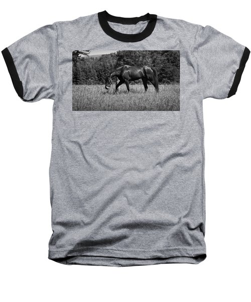 Baseball T-Shirt featuring the photograph Mare In Field by Davandra Cribbie