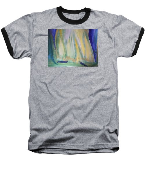 Baseball T-Shirt featuring the painting Medieval Dance by Judith Desrosiers