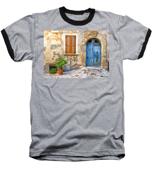 Mediterranean Door Window And Vase Baseball T-Shirt