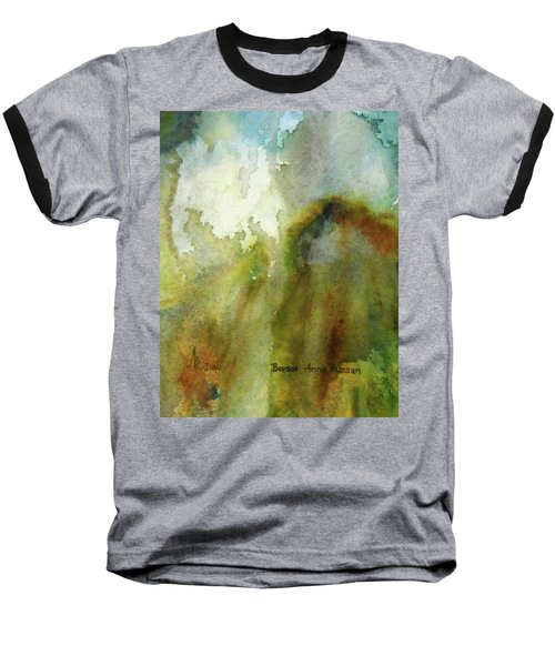 Baseball T-Shirt featuring the painting Melting Mountain by Anna Ruzsan
