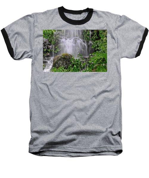 Mendenhall Glacier Flooding Waterfall Juneau Alaska 1542 Baseball T-Shirt