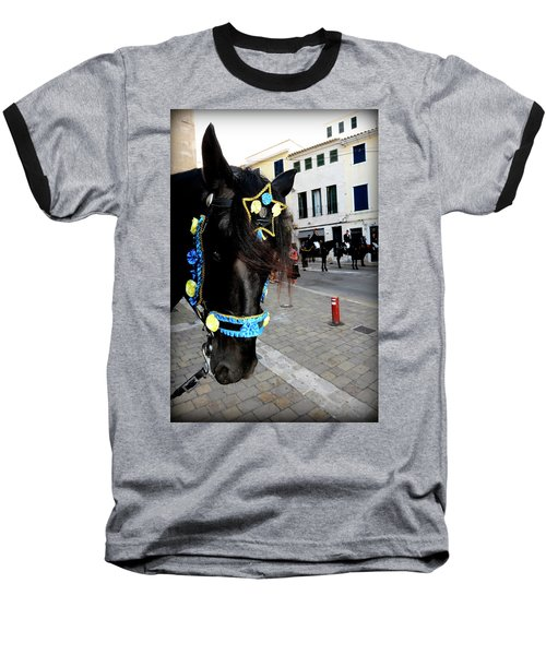Baseball T-Shirt featuring the photograph Menorca Horse 1 by Pedro Cardona