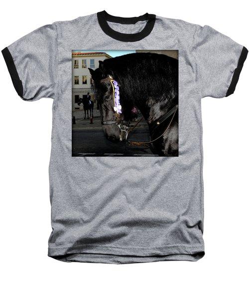 Baseball T-Shirt featuring the photograph Menorca Horse 2 by Pedro Cardona