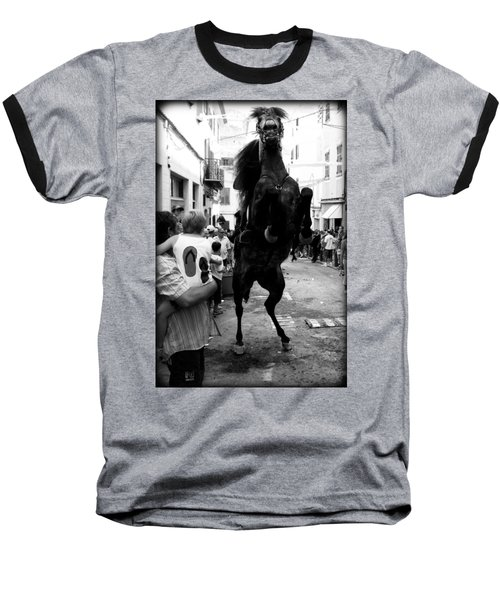 Baseball T-Shirt featuring the photograph Menorca Horse 3 by Pedro Cardona
