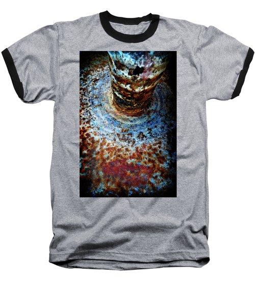 Baseball T-Shirt featuring the photograph Metallic Fluid by Pedro Cardona