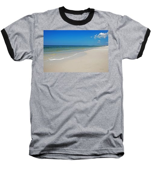 Mexico Beach Baseball T-Shirt by Kay Lovingood