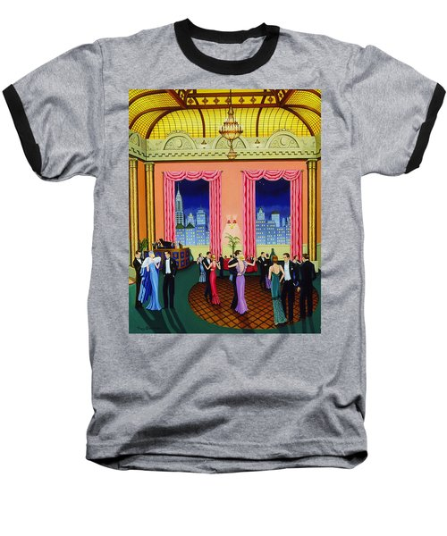 Midnight In Manhattan Baseball T-Shirt by Tracy Dennison