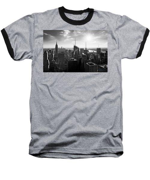 Midtown Skyline Infrared Baseball T-Shirt