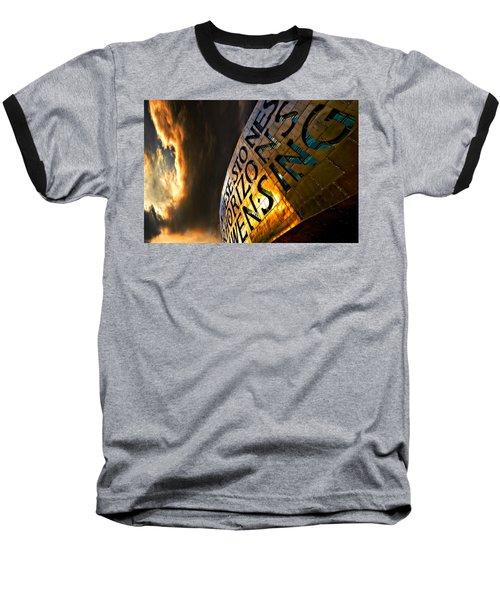 Millennium Drama Baseball T-Shirt by Meirion Matthias