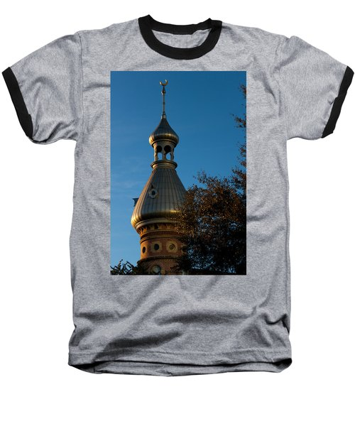Baseball T-Shirt featuring the photograph Minaret And Trees by Ed Gleichman