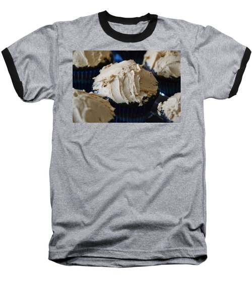 Mini Mountain Of Mocha Baseball T-Shirt by Bonnie Myszka