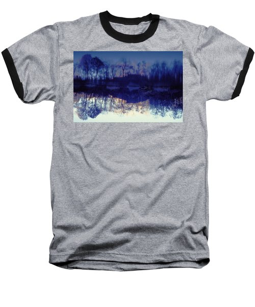 Mirror Pond In The Berkshires Baseball T-Shirt by Tom Wurl