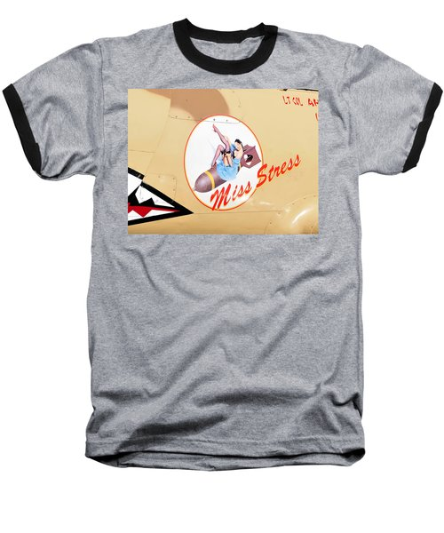 Miss Stress Baseball T-Shirt by David Lee Thompson