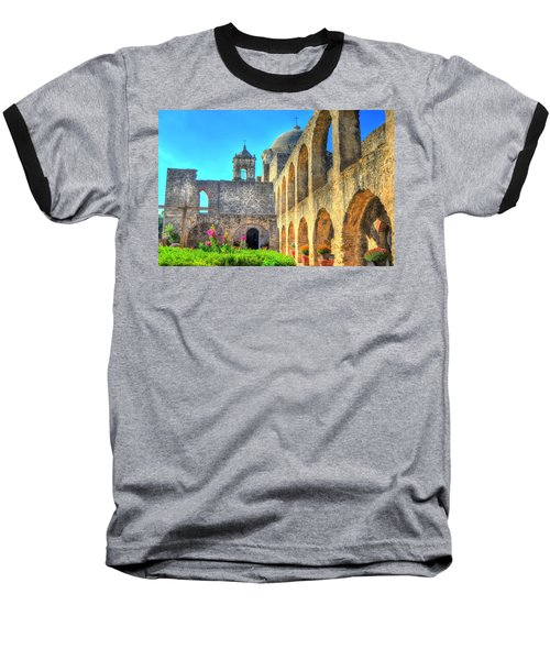 Mission Courtyard Baseball T-Shirt