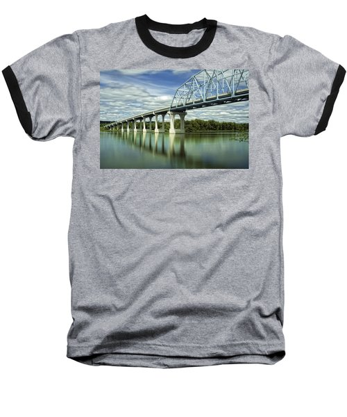 Baseball T-Shirt featuring the photograph Mississippi River At Wabasha Minnesota by Tom Gort