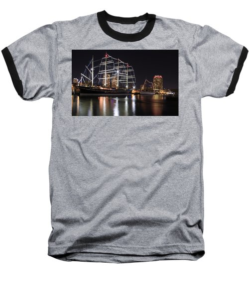 Baseball T-Shirt featuring the photograph Missoula At Nighttime by Alice Gipson