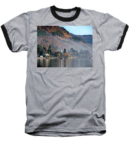 Baseball T-Shirt featuring the photograph Misty Autumn Morning by Lynn Bolt