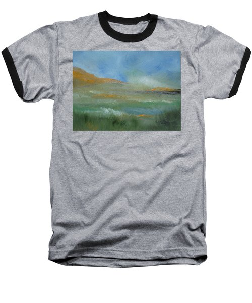Misty Morning Baseball T-Shirt by Judith Rhue